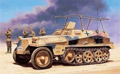 Sd Kfz 250 -3 GREIF, blindado de mando del General Erwin Rommel, Africa Korps.