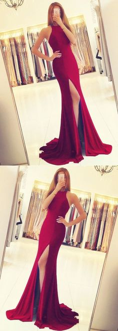 Long Jersey Backless Mermaid Prom Dresses 2019 Split Evening Gowns, Shop plus-sized prom dresses for curvy figures and plus-size party dresses. Ball gowns for prom in plus sizes and short plus-sized prom dresses for Backless Mermaid Prom Dresses, Long Prom Gowns, Prom Dresses With Sleeves, Plus Size Prom Dresses, Cheap Prom Dresses, Party Dresses, Ladies Dresses, Pageant Dresses, Dance Dresses