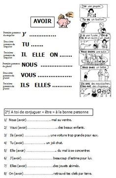 Image result for er verbs french worksheet | French Resources | Pinterest | French worksheets ...