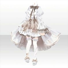 Clothes Draw, Drawing Anime Clothes, Pretty Outfits, Beautiful Outfits, Cute Outfits, Model Outfits, Girl Outfits, Pelo Anime, Anime Girl Dress