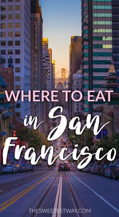 My favorite places to eat in San Francisco! Check 'em out!!