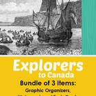 Explorers to Canada - Set of 28 Posters and 28 Student Templates. Beautiful posters of explorers who played a part in Canadian history. Student templates too, so students can design their own posters. Canadian History, American History, Early Explorers, Samuel De Champlain, Canada, Teaching Social Studies, Study History, France, Graphic Organizers