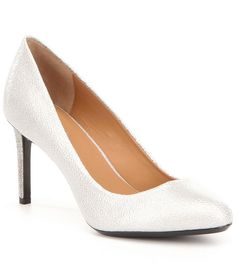 603a7661fd6 Calvin Klein Salsha Glossy Leather Pumps Leather Pumps