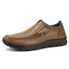 Men Large Size Hand Stitching Microfiber Leather Non-slip Casual Shoes - NewChic Mobile