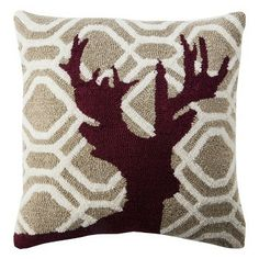 "Threshold™ Reindeer Toss Pillow - Madder Root (18x18"")"