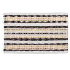 Designed with a hand woven tribal themed pattern, this Elements bath mat brings a splash of stylish ochre to a classic monochrome and has been crafted from cotton for high absorbency and quality. Coordinating towels available. Mat 10, Circle Pattern, Towel Set, Soft Furnishings, Animal Print Rug, Monochrome, Hand Weaving, Design, Nest Building