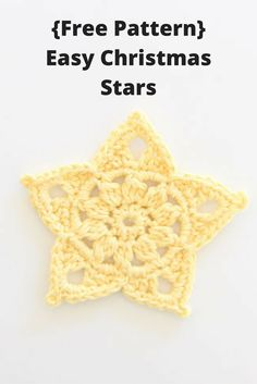 {Crochet} Easy Christmas Stars