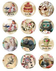 Alice in Wonderland Toppers http://www.pinterest.com/ritafernandes/alice-wonderland/