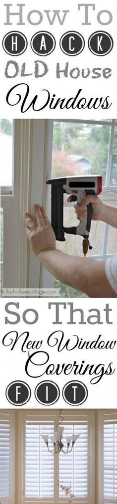 How To Make NEW Plantation Shutters Fit OLD House Windows - A Diy Hack.