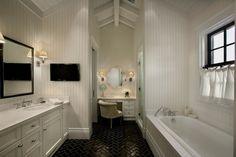 black floor bathroom - Google Search