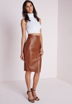 Cage Side Faux Leather Mini Skirt White - Skirts - Missguided ...