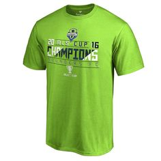 52fa78a57 Men's Fanatics Branded Rave Green Seattle Sounders FC 2016 MLS Cup Champions  Thirds T-Shirt