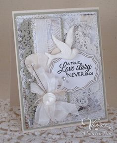 Monochromatic Wedding Card by Irishlatte - Cards and Paper Crafts at Splitcoaststampers