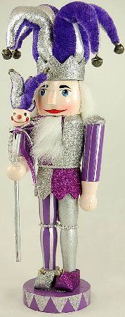 Purple Jester Christmas Nutcracker 15 Inch Wooden Holiday Decoration New   eBay