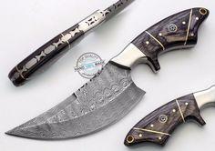 "8.50"" Custom Made Beautiful Damascus Steel Skinning Hunting Knife (AA-0362-1) #UltimateWarrior"