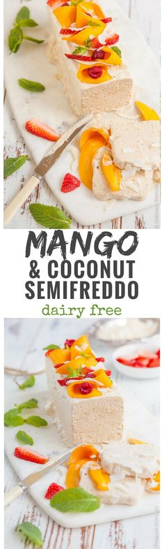 This gorgeous mango and coconut semifreddo recipe combines the best of elements of summer. And it also just happens to be dairy free and refined sugar free!