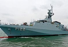 OPV ARAGUARI.The ARAGUARI is the third and final UK-built Amazonas class offshore patrol vessel for the Brazilian Navy.