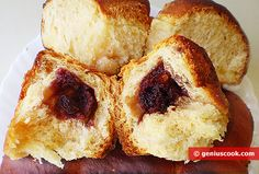 The Recipe for Buns in Cream   Baked Goods   Genius cook - Healthy Nutrition, Tasty Food, Simple Recipes