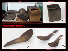 Vassoi, contenitori di legno ripiegato, mestoli. I Nootka, Makah, Quileute, … come altre etnie della Costa Nordoccidentale producevano tutta una serie di contenitori intagliati sia lignei che cornei.