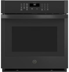 GE® 27 Smart Built-In Single Wall Oven - JKS3000DNBB Single Wall Oven, Electric Wall Oven, Wifi Connect, Hot Butter, Veggie Fries, Steam Cleaning, Oven Cooking, Oven Racks, Savory Snacks
