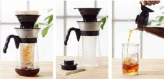 This pour-over iced coffee maker: