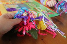 My daughter just loves fairies. She wanted to make and name her own, so we tried this homemade fairy-making project!