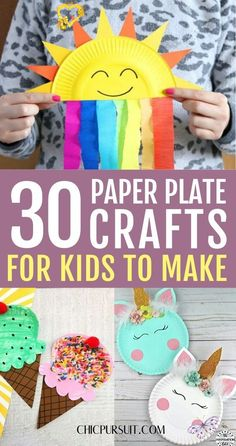 30 Easy Paper Plate Crafts For Kids To Make At Home Paper Plate Crafts For Kids Easy: Simple Paper Plate Crafts For Kids Toddlers. If you're looking for easy crafts for kids to make at home, these arts and crafts for kids, DIY crafts for kids, paper plate crafts for toddlers, paper plate crafts for kids animals, simple paper plate crafts for kids preschool and paper plate crafts for kids art projects are perfect for your family to try out! #paperplatecraftsforkids #crafts #paperplate… Summer Crafts For Toddlers, Crafts For Kids To Make, Toddler Crafts, Projects For Kids, Kids Diy, Diy Projects, Food Art For Kids, How To Make, Sun Crafts
