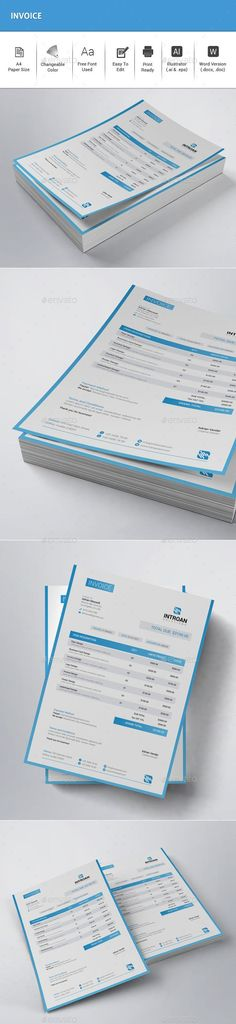 Shape Invoice Invoice design, Business plan presentation and - product invoice