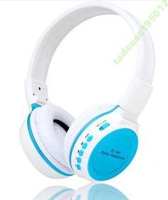 SŁUCHAWKI BEZPRZEWODOWE MP3, SD, RADIO
