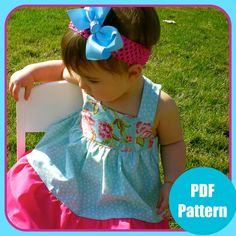 Girls Dress Pattern PDF Sewing Pattern Baby by pinkpoodlebows