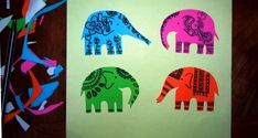 Elephant papeRecycle Craft for Dawali, Festival of lights- craft-Use paper scraps or fabric scraps.