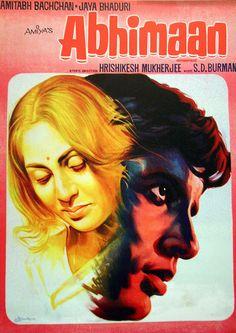 Abhimaan starring Amitabh Bachchan and Jaya Bachchan Old Bollywood Movies, Bollywood Posters, Vintage Bollywood, Cinema Posters, Film Posters, Amitabh Movies, Film Movie, Hindi Movie, 1984 Movie