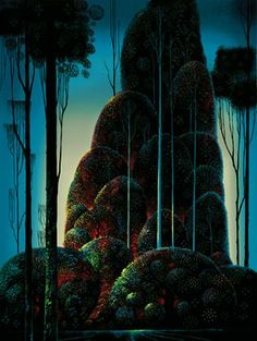 "Eyvind Earle - ""Tall Trees"", Serigraph, 1987."