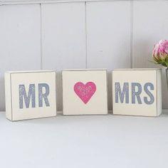 Mr & Mrs Blocks Set