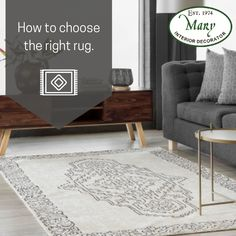 An area rug can really tie a room together visually and make it more comfortable, too. Take the following into consideration when choosing a rug: Does it match your style and lifestyle? Is it to clean and care for ? Where will the rug be used? We supply rugs in various sizes, designs, and finishes. Call us on 011 268 0329/nikos@marysinteriors.co.za/Shop 6A Illovo Square Shopping Centre. #marysinteriors #interiordecor #newlook #customdesign #modern #designtrend #rugs #decor #ugfabrics Consideration, Design Trends, Centre, Your Style, Custom Design, Area Rugs, Interior Decorating, Mary, It Is Finished