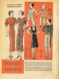 Simplicity Fashion Forecast Patterns, November 1934 featuring Simplicity 1566, 1564, 1583 and 1580