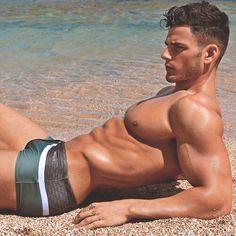 Matt Sabatino, Male Model, Good Looking, Handsome, Beautiful Man, Guy, Dude, Hot, Sexy, Eye Candy, Muscle, Hunk, Abs, Sixpack, Shirtless, Swimwear, Bulge 男性モデル スイムウェア 水着