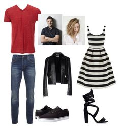 """""""so behind but Ezria is back #PLL"""" by ihascupquake270 on Polyvore featuring Scotch & Soda, Lakai, Warehouse and Versace"""