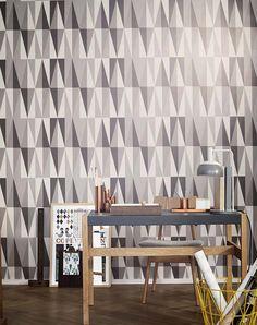 Spear | Papel de parede geométrico | Padrões de papel de parede | Papel de parede dos anos 70