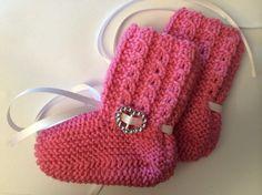 Strømper, sokker, labber, lester, ragger. Baby Knitting, Mittens, Pink, Fingerless Mittens, Gloves, Baby Afghans