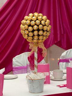 20 best ferrero rocher candy centerpiece images on Pinterest | Candy ...