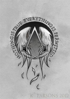 Assassin's Creed Logo Tattoo Commission by kerae on deviantART