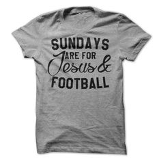 Sundays Are For Jesus And Football T-Shirt, Women's Fit T-Shirt, Hoodie Buy more than 1 item and save big on shipping