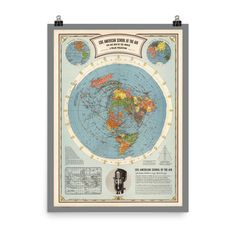 Air Map of the World - Enhanced Matte Paper Poster