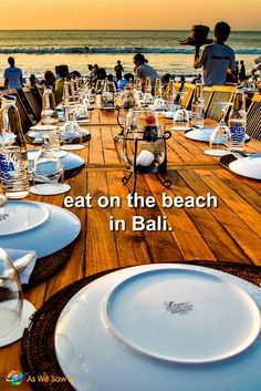 Luxurious Bali must-do: where to eat on Jimbaran beach, Bali, Indonesia