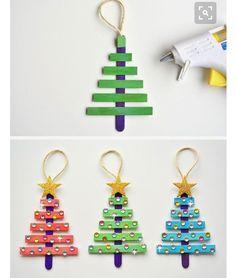 Popsicle stick tree ornaments