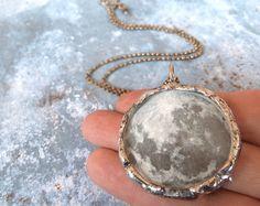 Dark Side of the Moon Necklace. Sterling by RenataandJonathan