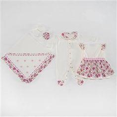 Saída Maternidade Vestido Dondoquinha Pink Recém-Nascido a 3 Meses