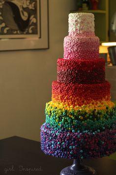 Six Layer Rainbow Cake - girl. Inspired.