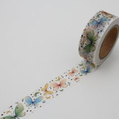 Butterfly Washi Tape, Floral card making Deco tape,crafting tape